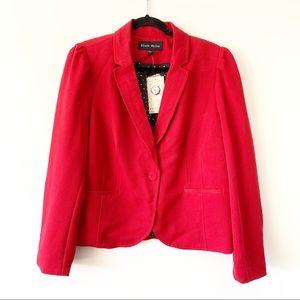 NWT $78 Black Rainn Women's Red Blazer Size XL